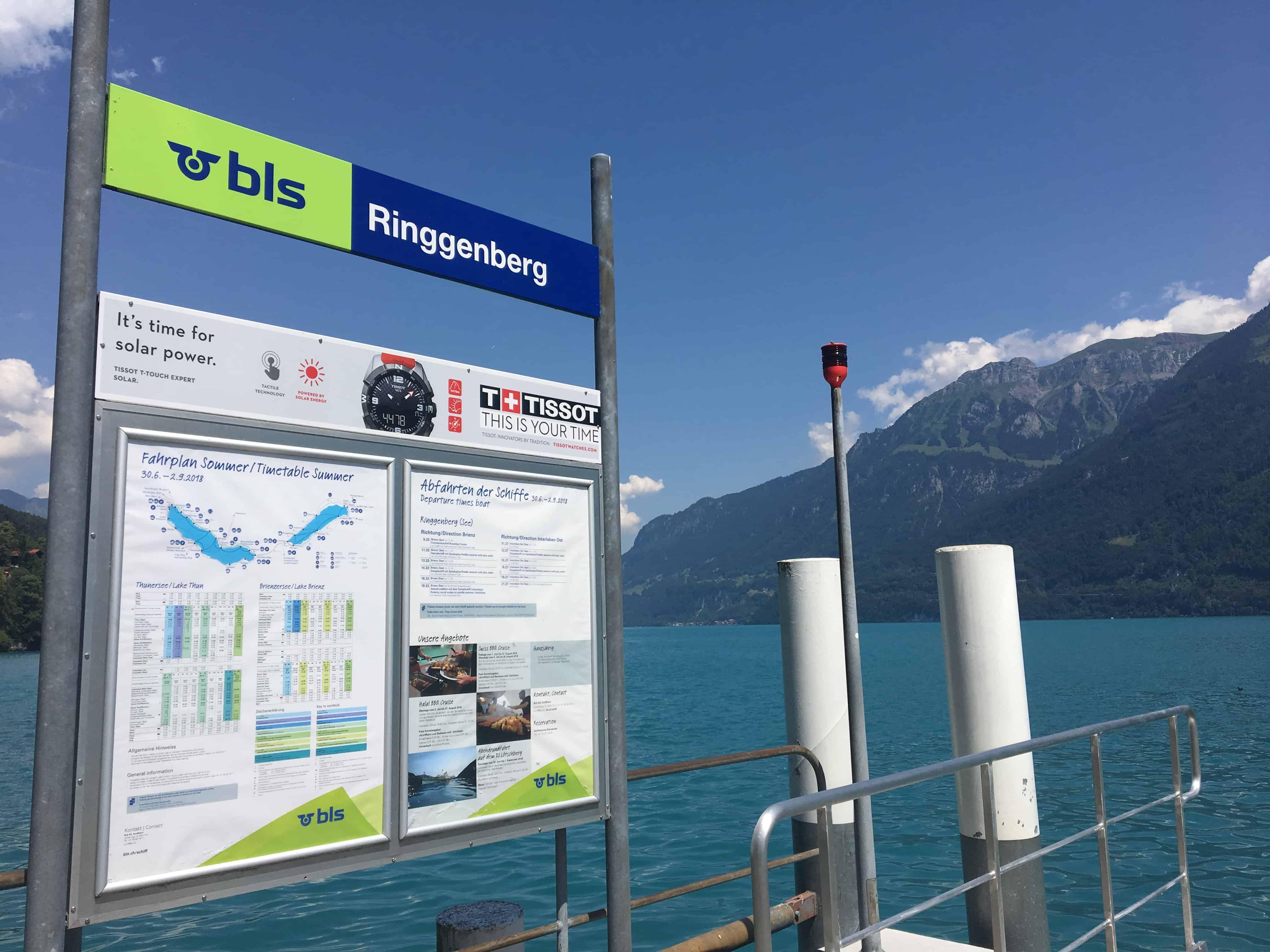 Ringgenberg Schiffsstation am Brienzer See